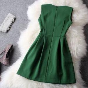 Fresh Green With Beading Party Dres..